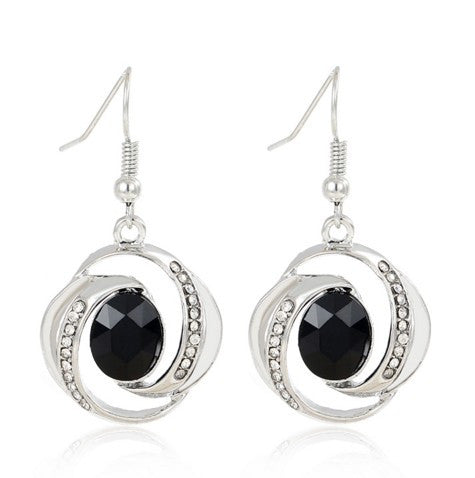 Charming Black Pendant Jewelry Set