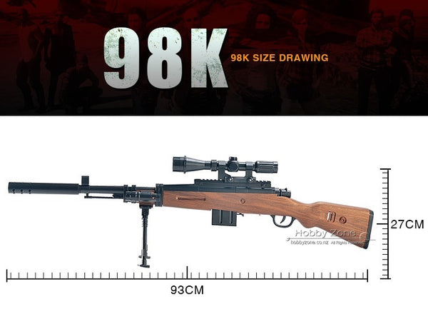 HD KAR 98K PUBG Gel Ball Sniping Rifle Gun