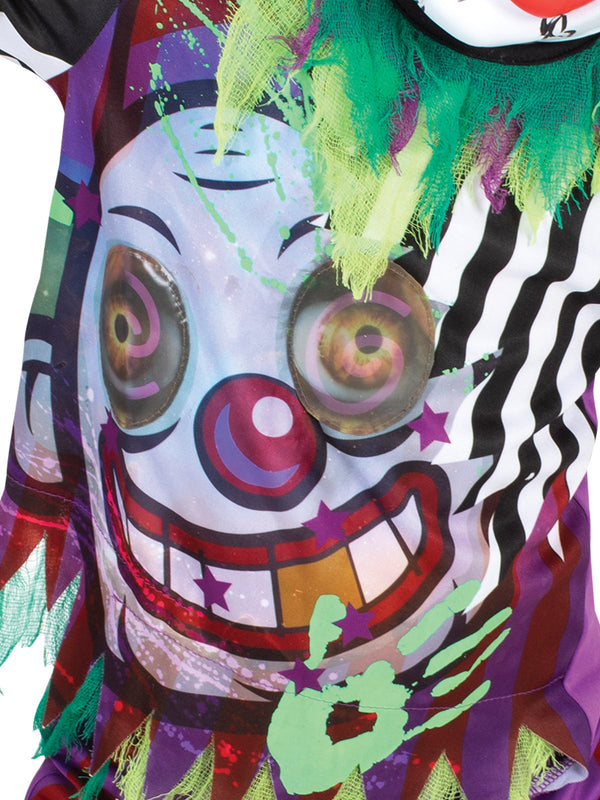 Scary Clown Lenticular Costume, Child