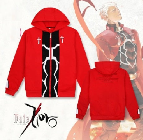 Fate Stay Night Archer Cosplay Costume Hoodie