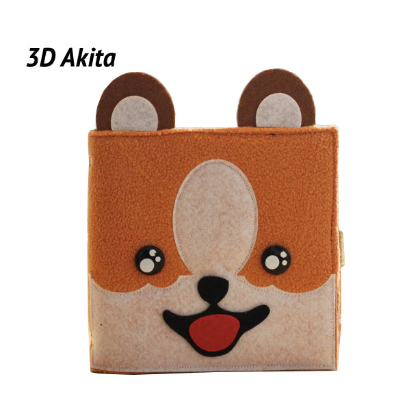 Hand Crafted 3D Pet Dog Soft Cover Notebook