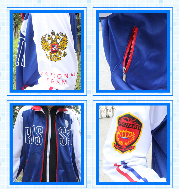Yuri On Ice Assorted Teams Cosplay Costume Hoodie