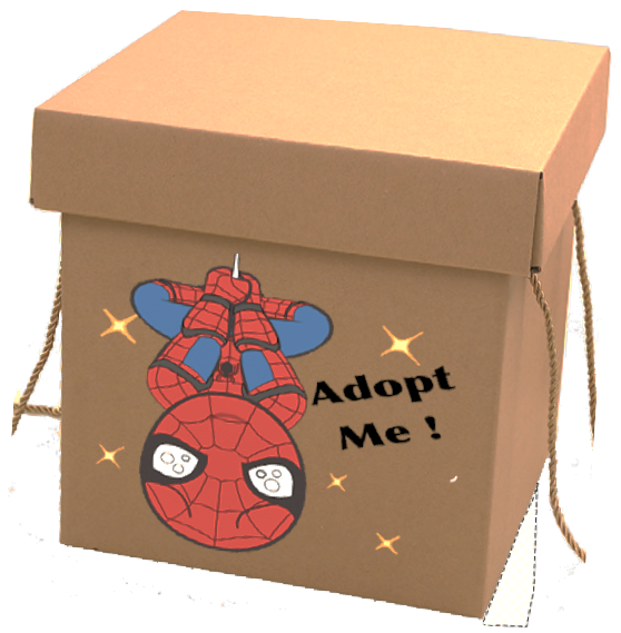 "Chibi Spider Man ""Adopte Me"" Mystery Gift Box"