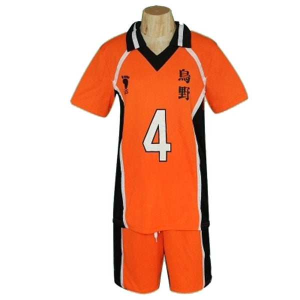 Haikyuu Uniform - Karasuno Cosplay Costume T-Shirts and Shorts Set