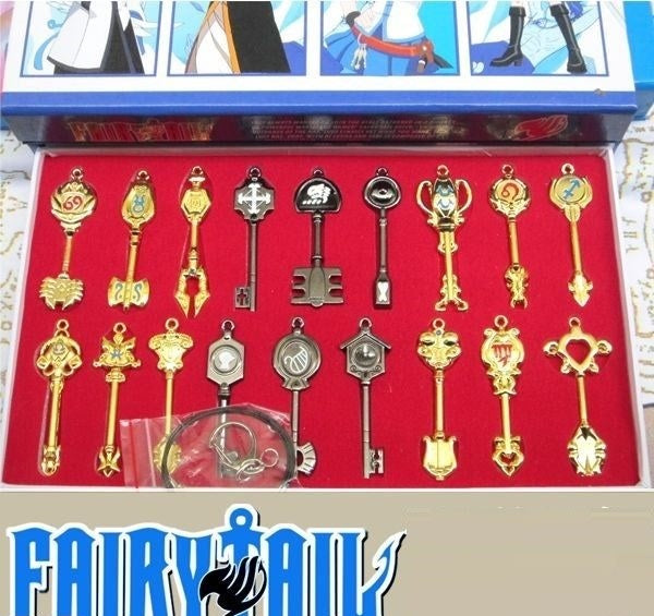 Fairy Tail 18 Keychains Collectors Set
