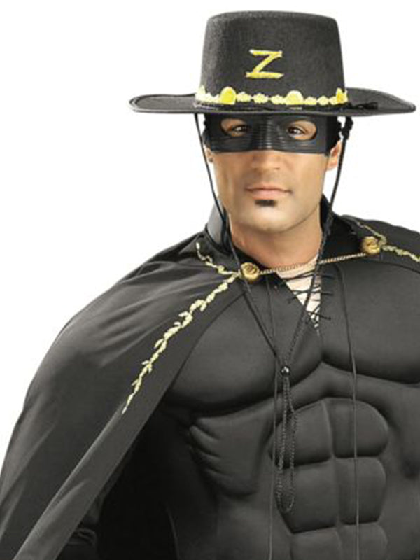 Zorro Deluxe Muscle Chest Costume, Adult