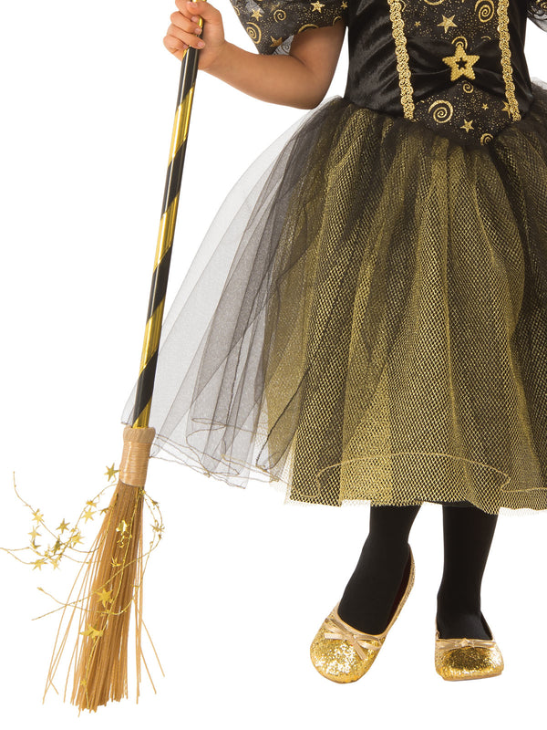 Golden Star Witch Costume, Child