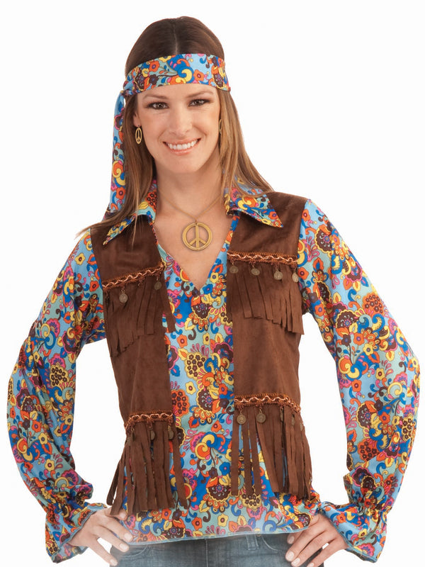 Hippie Costume Set Womens, Adult