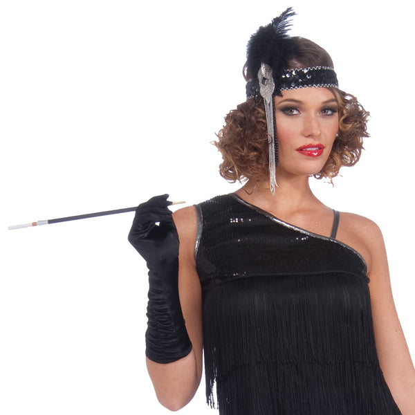 Flapper Costume, Black Diamond Dazzler, Adult