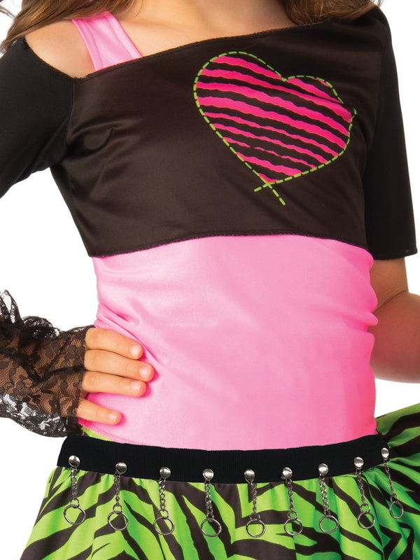 up close material girl costume