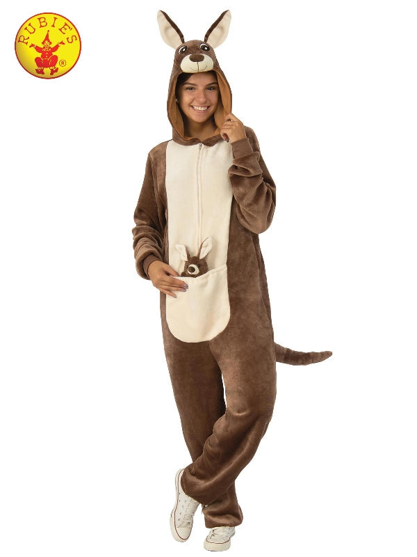 Kangaroo Furry Onesie Costume, Adult