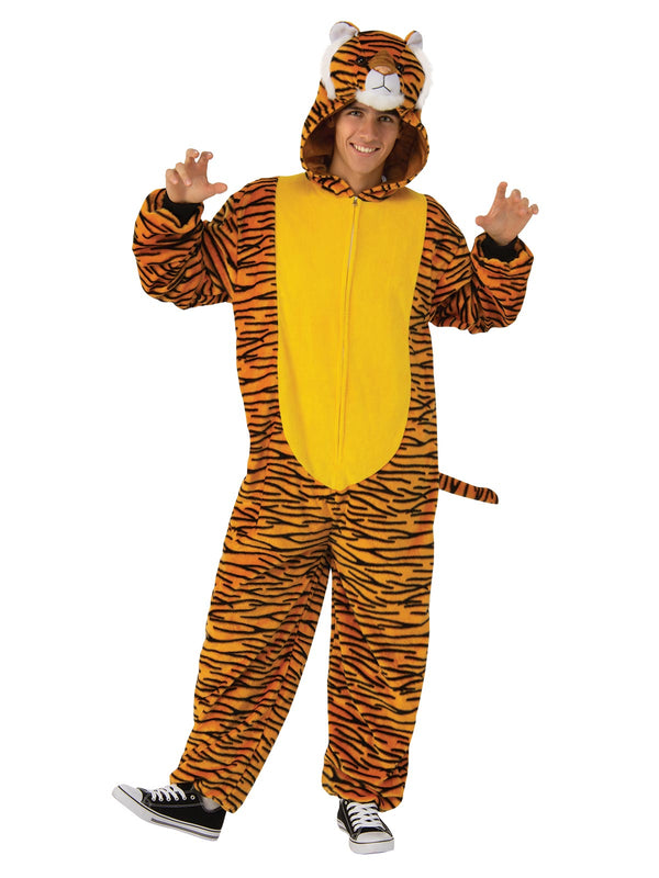 Tiger Furry Onesie Costume, Adult