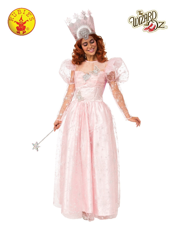 Glinda Deluxe Costume With Light Up Crown, Adult