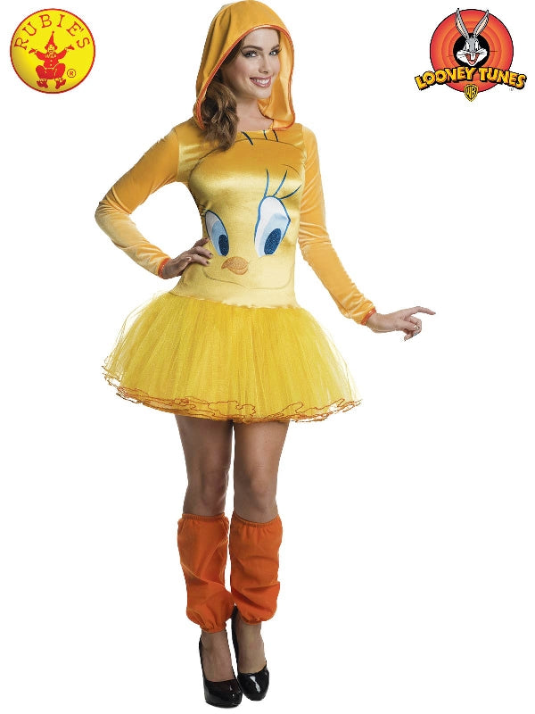 Tweety Hooded Tutu Dress, Adult