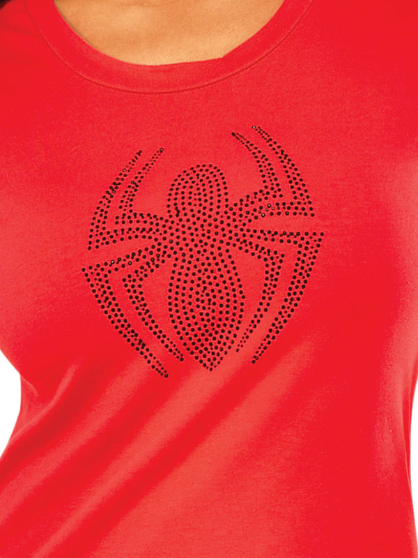 Spider-Girl Rhinestone Tshirt, Adult
