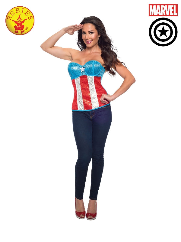 American Dream Sequined Corset, Adult