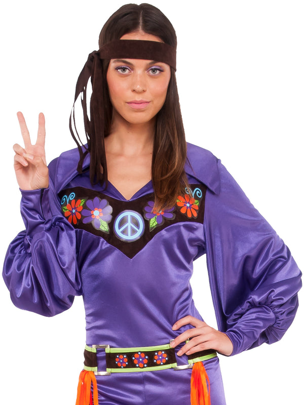 Up close hippie costume