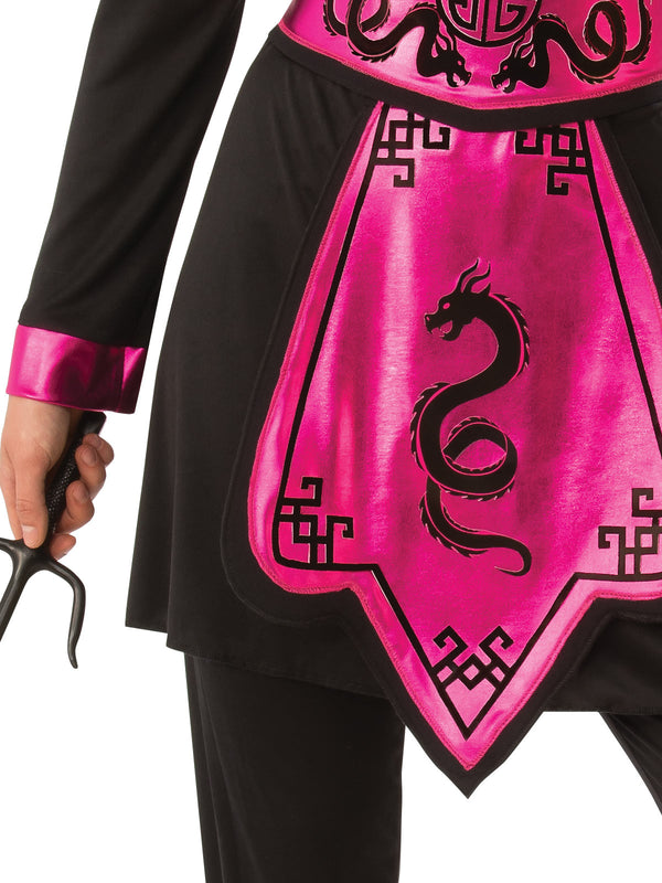 Pink Ninja Warrior Costume, Adult