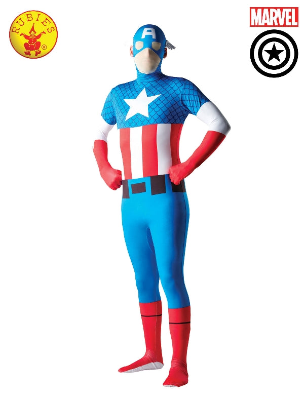 Captain America 2Nd Skin Suit, Adult