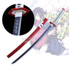 Hand Forged Demon Slayer Giyuu Tomioka Nichirin Sword-Red