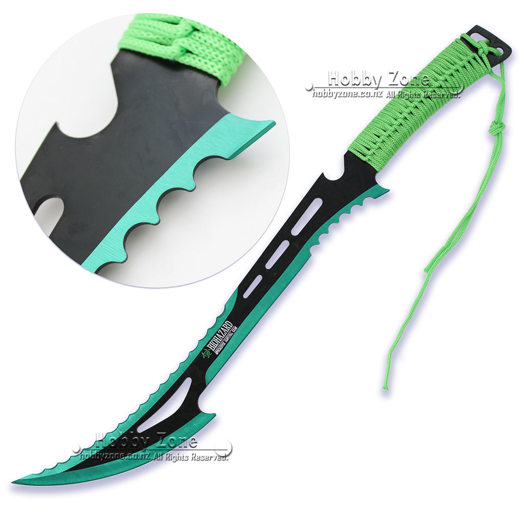 Zombie Killer Full Tang Green Hero Machete