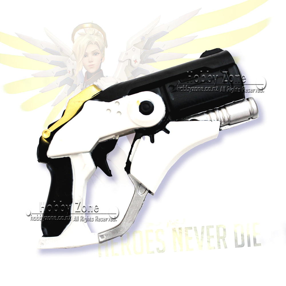 Overwatch Foam Mercy Gun Pistol PU LARP Cosplay Weapon