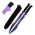 Ninja Warrior Rainbow Twin Sword Machete Set VI
