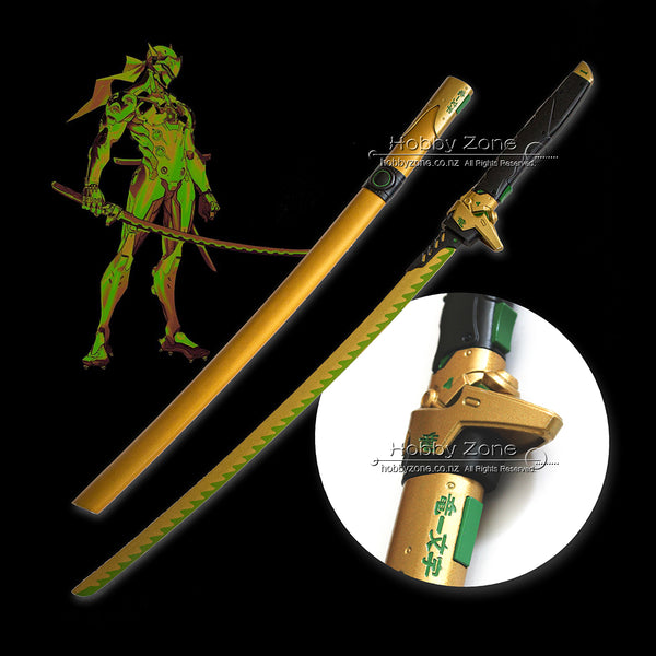 OW Golden Genji Autumn Game Dragonblade Sword Collector's Version