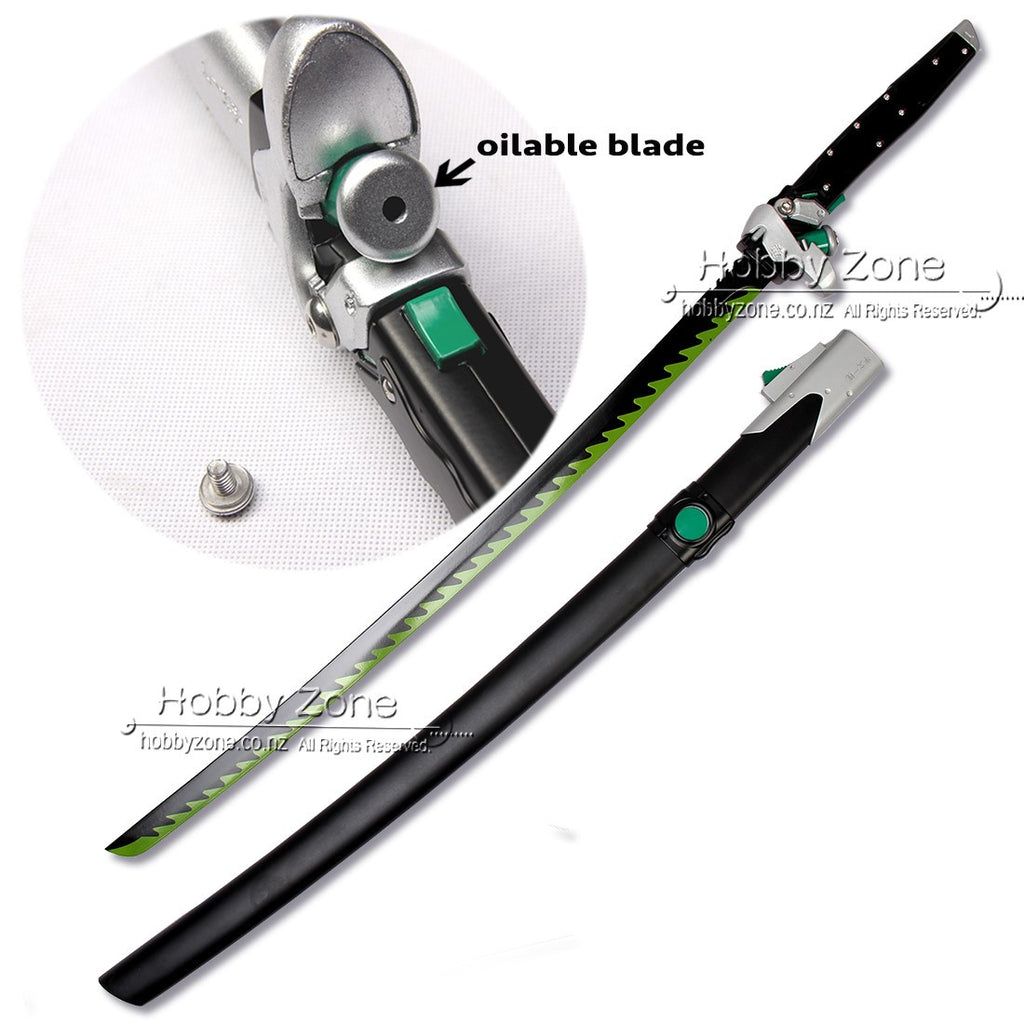 Overwatch Genji Shimada Live Size Dragonblade Sword w Re-Oilable Blade - Classic Skin