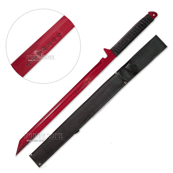 Full Tang Ninja Warrior Sword with Sheath-Red