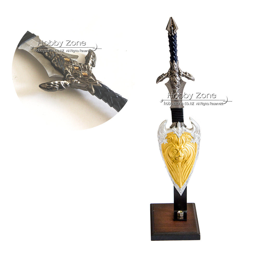 Warcraft Mini Anduin Lothar Display Sword Set With Stand