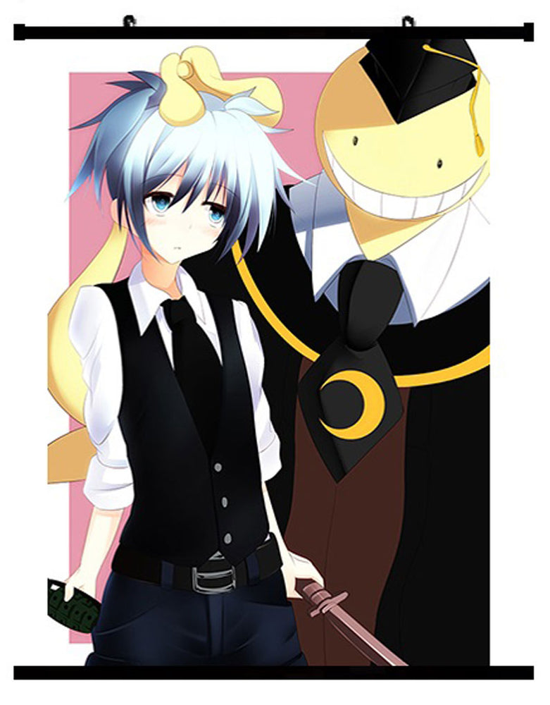 Anime Assassination Classroom Nagisa Shiota & Korosensei Wall Scroll 01