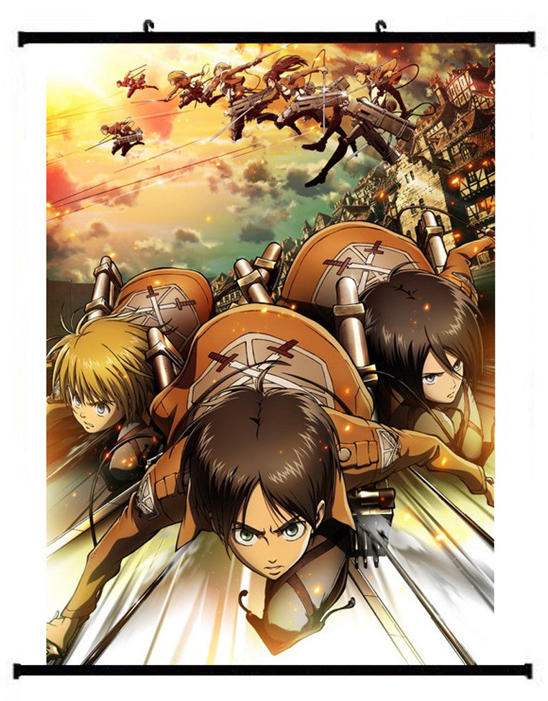 Anime Attack On Titan Group Wall Scroll 02