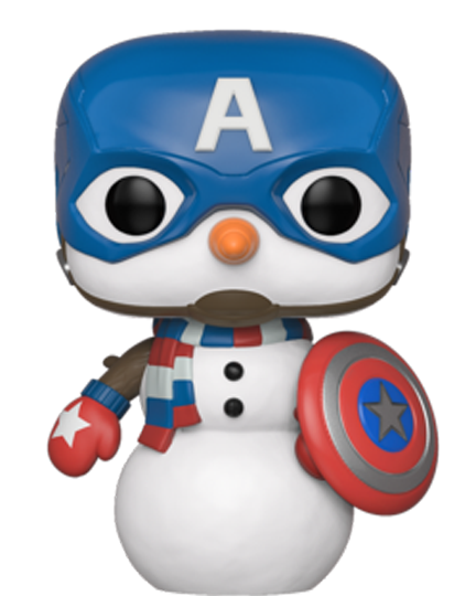 The Avengers - Captain America as Snowman Christmas Holiday Pop! Vinyl Figure