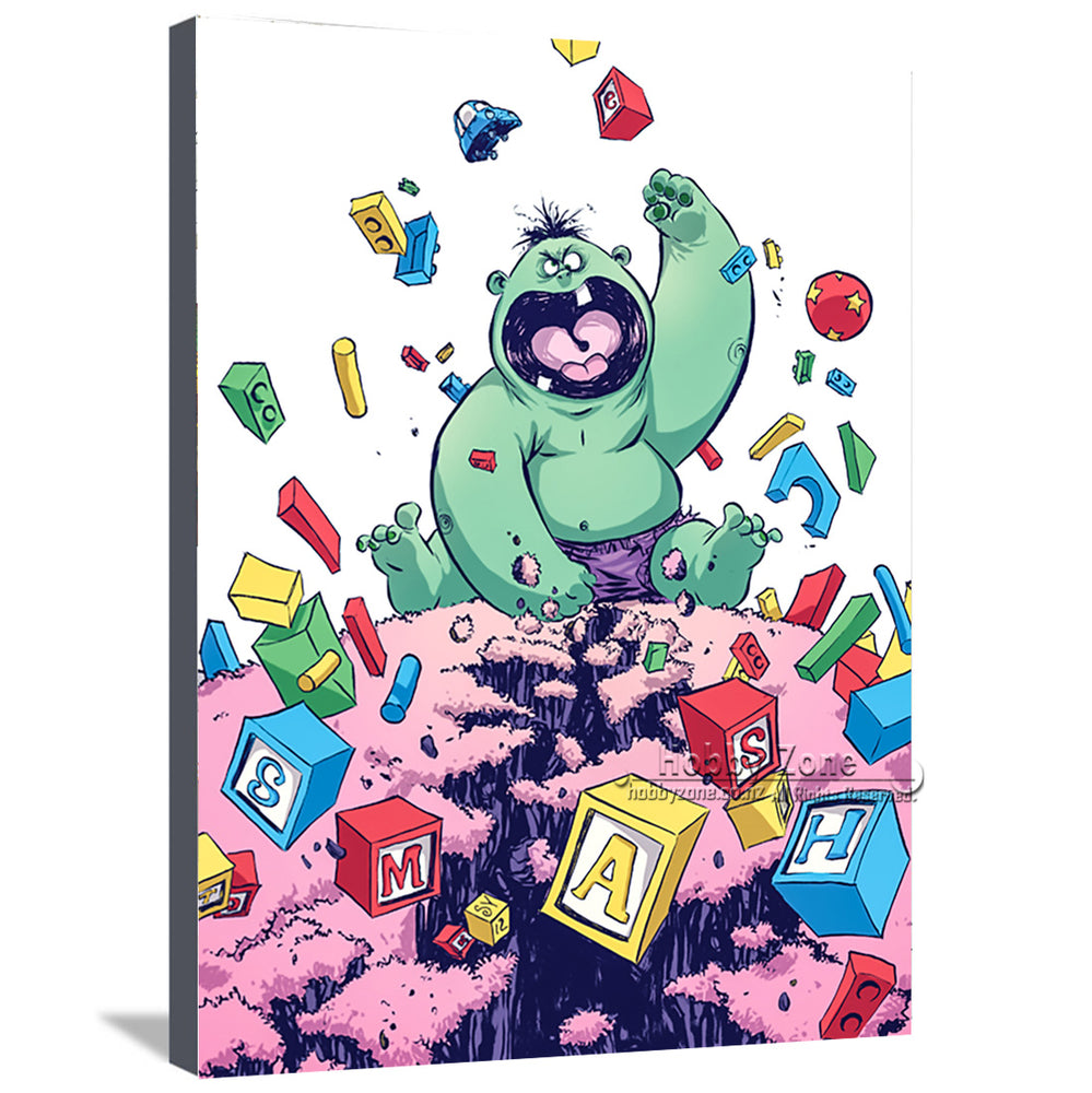 Superhero Baby Hulk Canvas