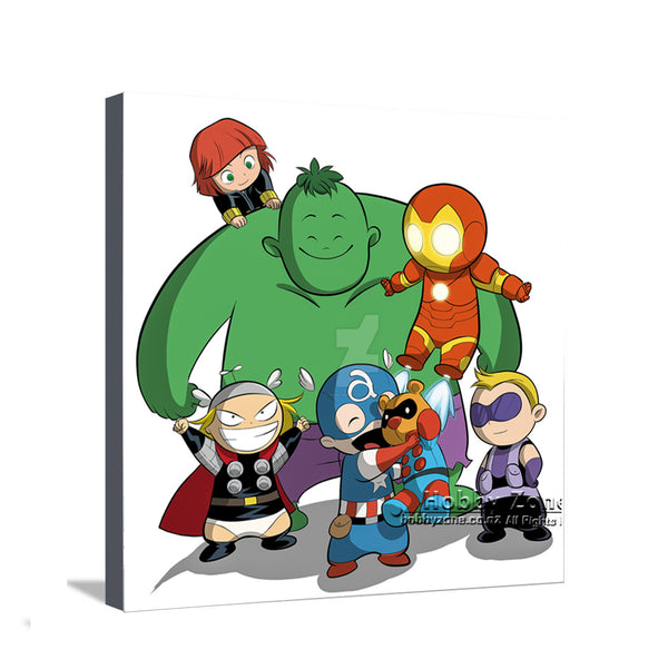 Superhero Baby Avengers Group Canvas