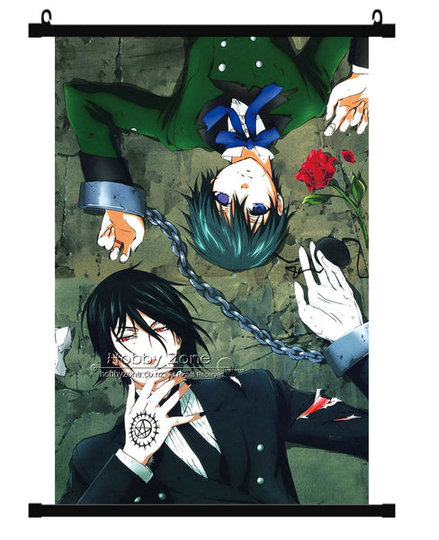 Anime Black Butler Sebastian & Ciel Wall Scroll 03