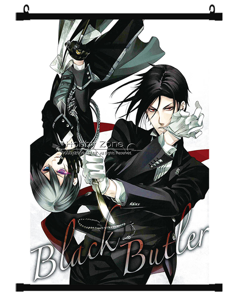 Anime Black Butler Sebastian & Ciel Wall Scroll 04