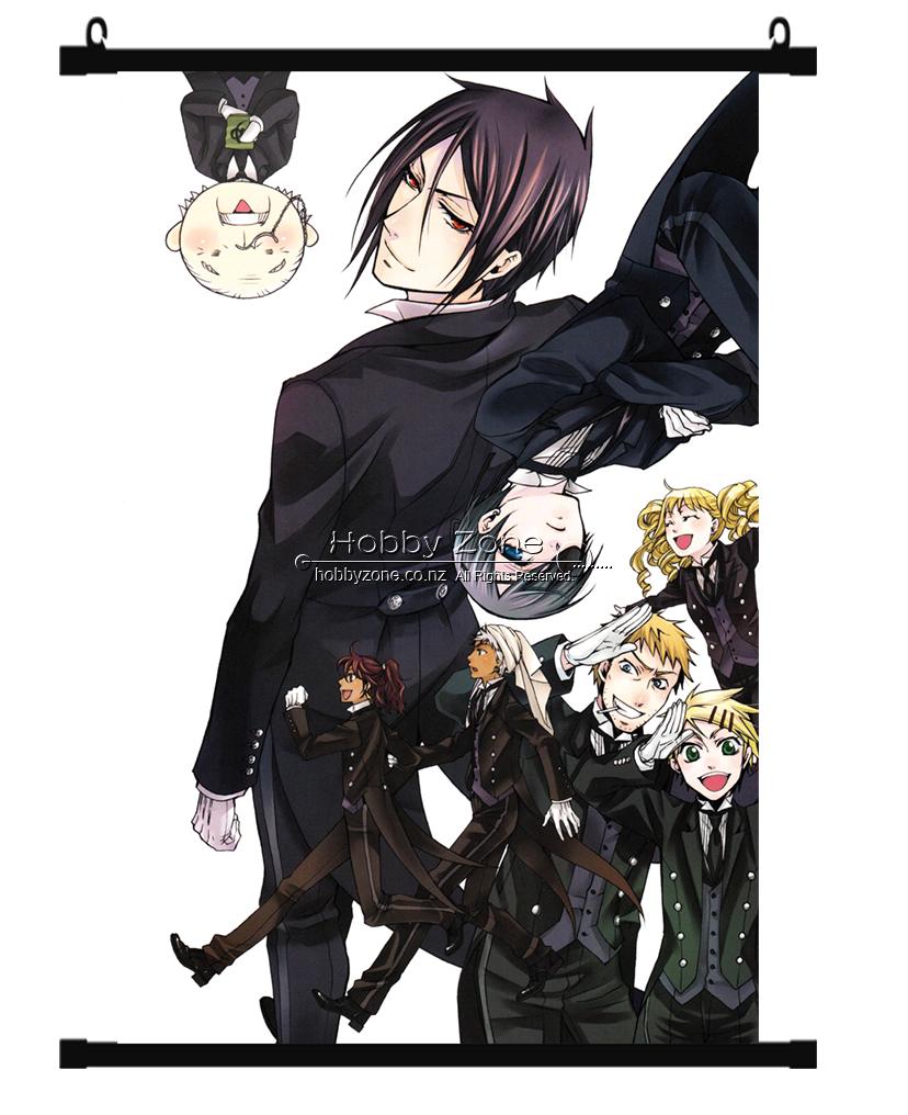 Anime Black Butler Group Wall Scroll 01