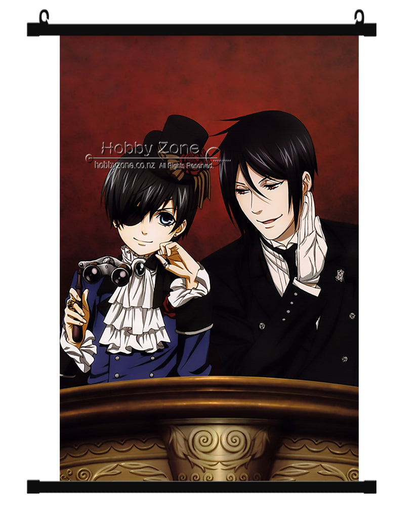 Anime Black Butler Sebastian & Ciel Wall Scroll 06