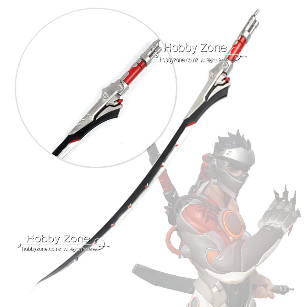 Overwatch Blackwatch Genji Dragon Blade Foam PU LARP Cosplay Sword