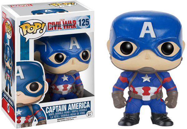 Captain America: Civil War - Captain America Pop! Vinyl Figure
