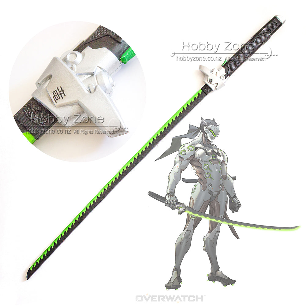 Overwatch Classic Genji Dragon Blade Foam PU LARP Cosplay Sword