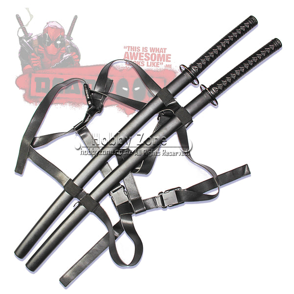 Deadpool Double Twin Katana Sword Set