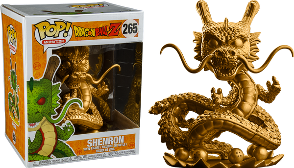 "Dragon Ball Z - Shenron Gold 6"" Super Sized Pop Vinyl Figure"