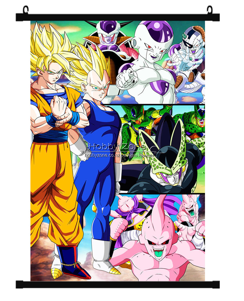 Dragon Ball Super Saiyans & Valiants Group Wall Scroll 01