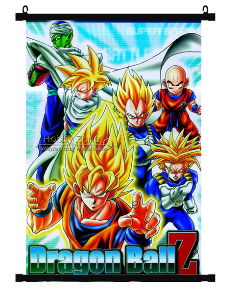 Dragon Ball Z Super Saiyans Group Wall Scroll 02