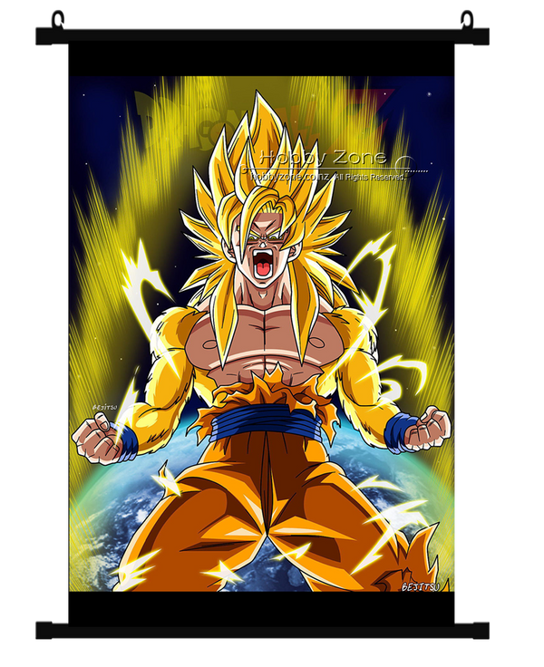 Dragon Ball Goku Super Saiyan 3 Wall Scroll 01