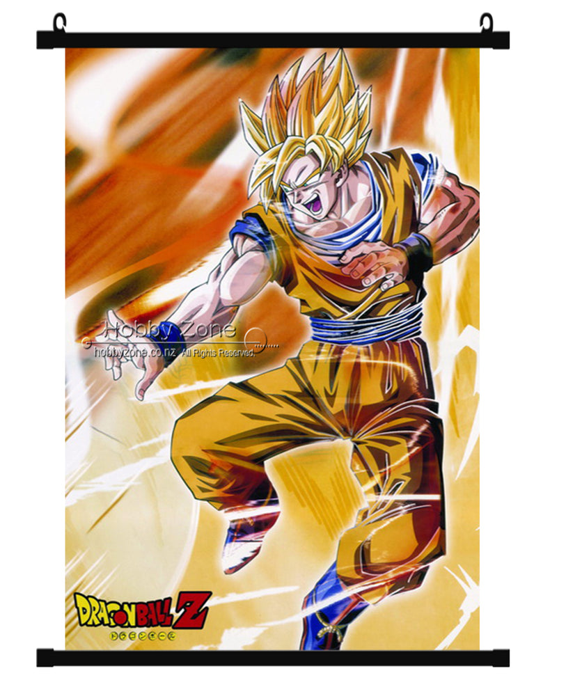 Dragon Ball Z Goku Super Saiyan Wall Scroll 02