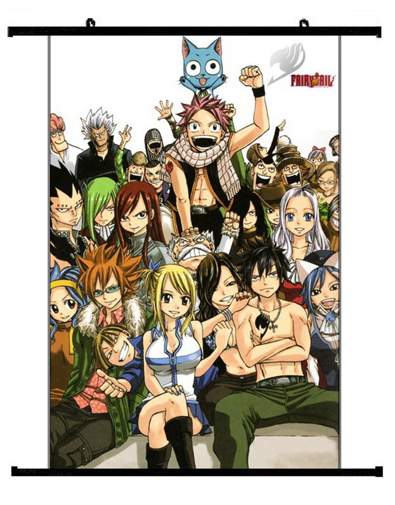 Anime Fairy Tail Group Wall Scroll 03